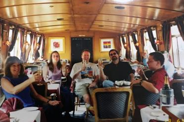 Our gang aboard The Countess