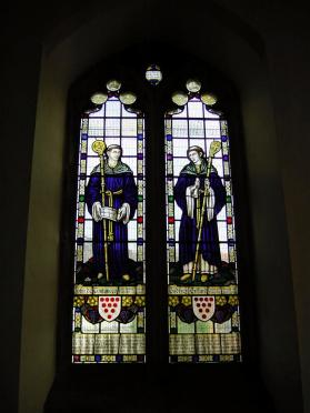 Stained glass inside Guild Chapel (1)