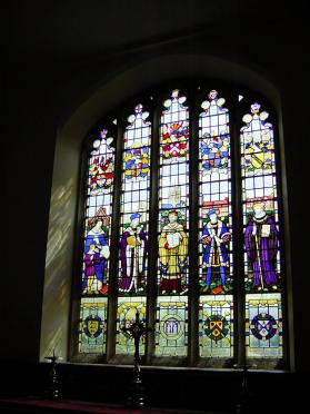 Stained glass inside Guild Chapel (2)