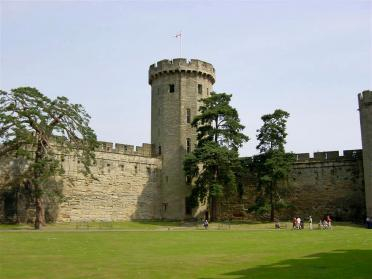 Warwick Castle - looking towards front towers