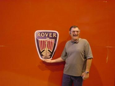 Dad and Rover sign