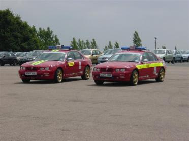 Rover75 fire fighting cars
