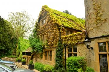 Charingworth ivy-covered back of Manor