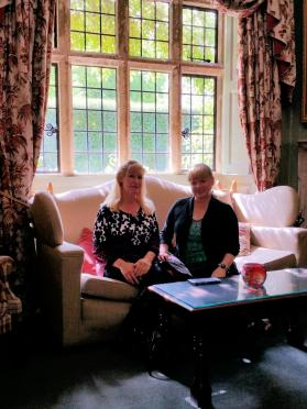 LeAnn and Kathy - Charingworth drawing room