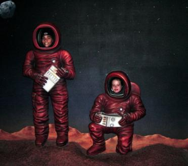 Andrew and Melanie on Mars