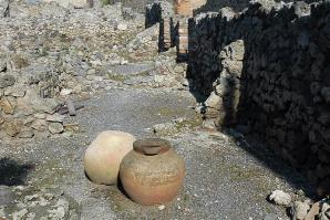 Pottery among the ruins