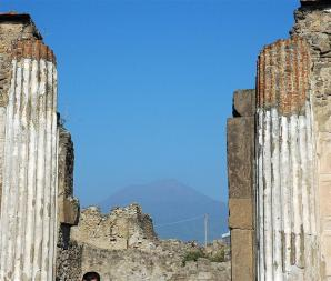 Vesuvius through the columns