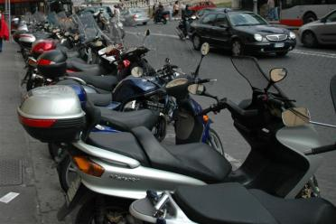 Row of scooters