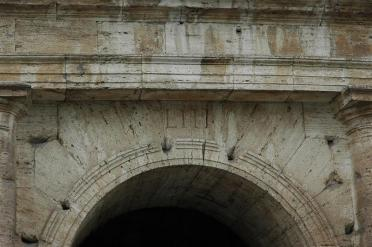 Roman numerals over entry archway