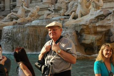 Paul at Trevi Fountain