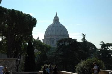St. Peter's from inside Vatican Museum