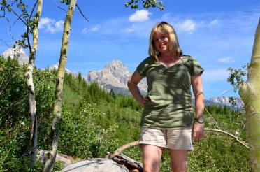 Kathy and Tetons