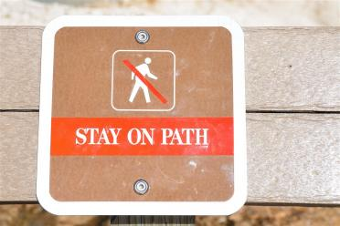 Seriously - stay on the path