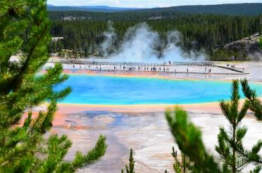 Grand Prismatic - from atop hill on Fairy Falls trail (2)