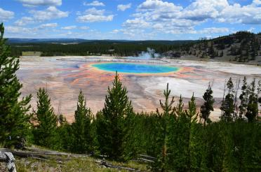 Grand Prismatic - from atop hill on Fairy Falls trail (3)