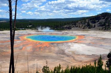Grand Prismatic - from atop hill on Fairy Falls trail (8)