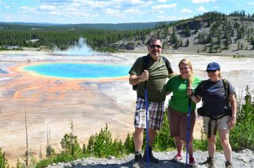 Roger, Mel, and Kathy - Grand Prismatic view