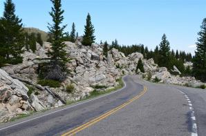 Glacially-deposited boulders along the road (1)