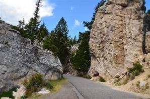 Glacially-deposited boulders along the road (2)