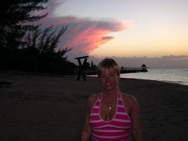 Kathy and the sunset
