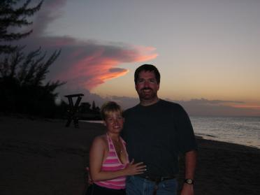 Roger and Kathy - Jamaican sunset