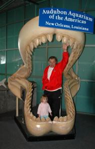 Lizzie and PawPaw in the jaws