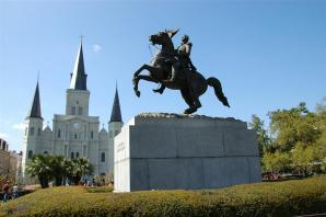 St. Louis Cathedral and Andrew Jackson statue