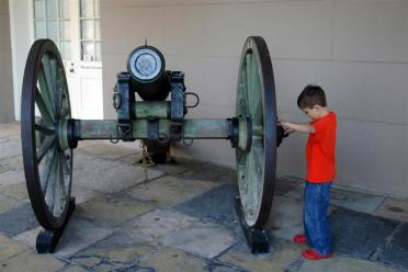 Ben and the cannon