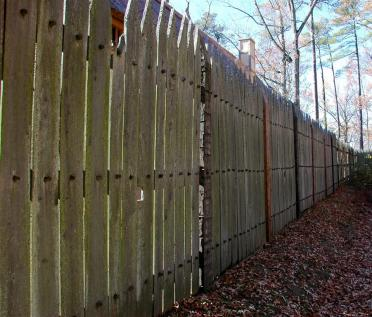 Jamestown Fort fence