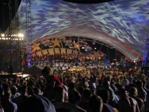 Capitol Fourth - stage at end-of-show