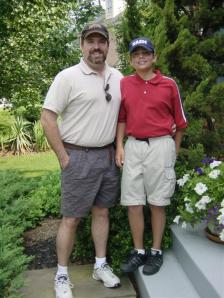 Dad and Andrew going golfing